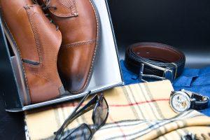 Schuhe, Gürtel, Brille, Uhr, Schal für Herren