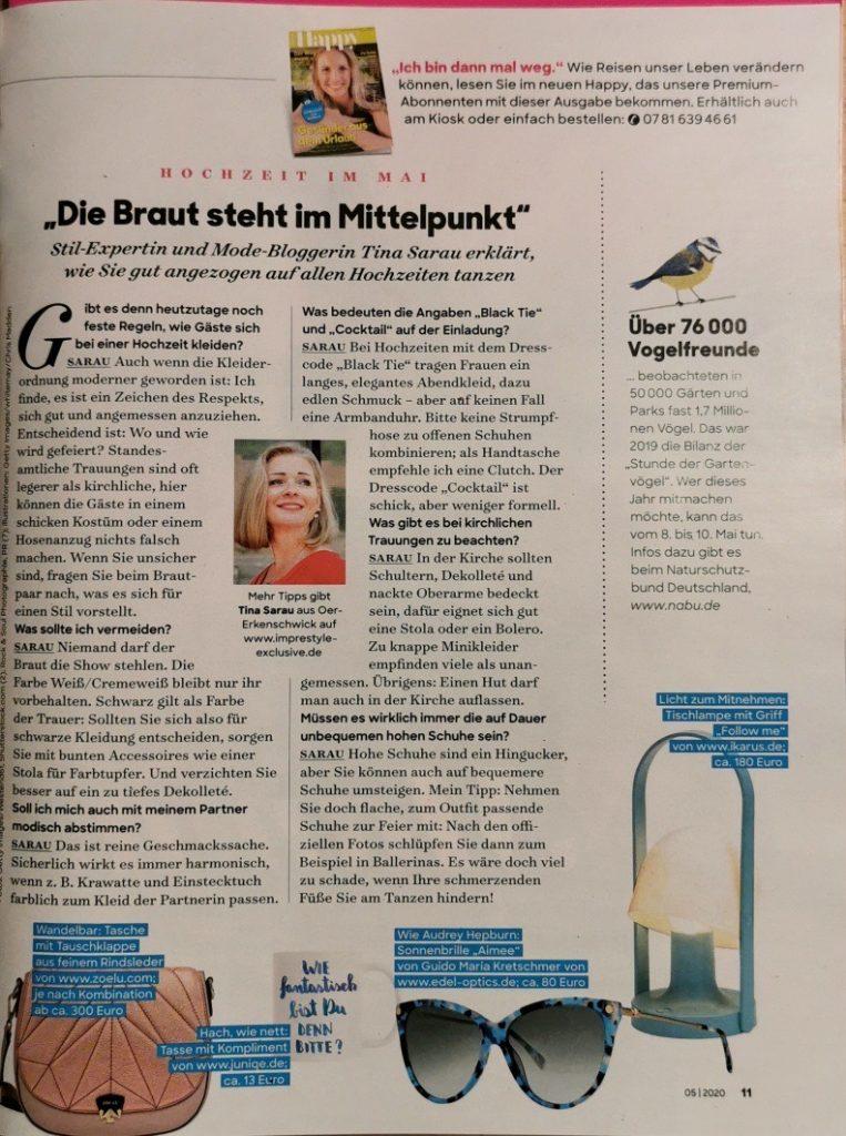 Interview Magazin Frau im Leben 05/2020