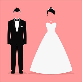 Hochzeitspaar Grafik