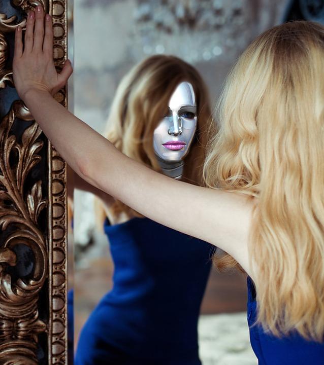 Frau mit Spiegel 3