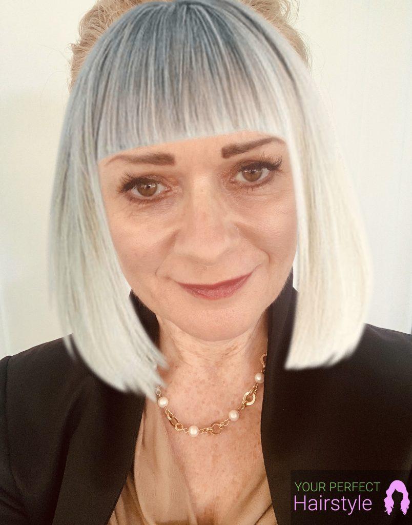 Fotocollage mit grauen Haaren
