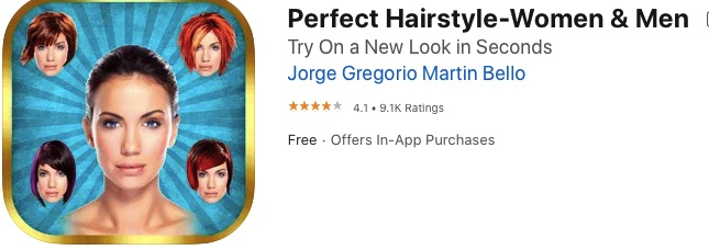 App Your Perfect Hairstyle for Women and Men